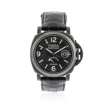 Panerai Black PVD Luminor Power Reserve Wristwatch