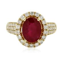 14KT Yellow Gold 3.03 ctw Ruby and Diamond Ring