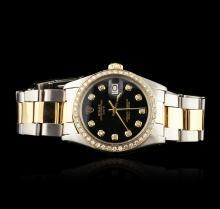 Gents Rolex Two-Tone Diamond Date Vintage Wristwatch