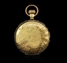 Seth Thomas 14KT Yellow Gold Full Hunter Antique Pocket Watch