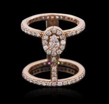 14KT Rose Gold 1.23 ctw Diamond Ring