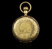 Elgin 14KT Yellow Gold Full Hunter Antique Pocket Watch
