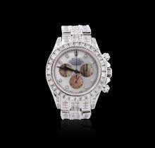 Gents Rolex 18KT White Gold 30.00ctw Diamond Daytona Wristwatch