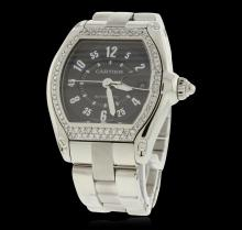 Gents Stainless Steel Roadster Diamond Wristwatch