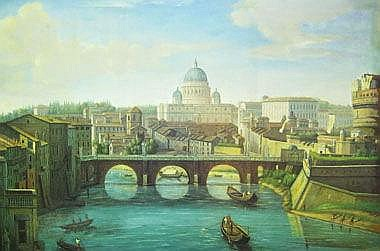 20TH CENTURY IN 18TH CENTURY MANNER, 'Rome', oil