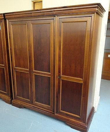 WILLIS AND GAMBIER WARDROBE, mahogany with three