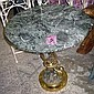 OCCASIONAL TABLE, circular form, brass, with