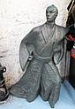 BRONZE SAMURAI, in a traditional Japanese costume