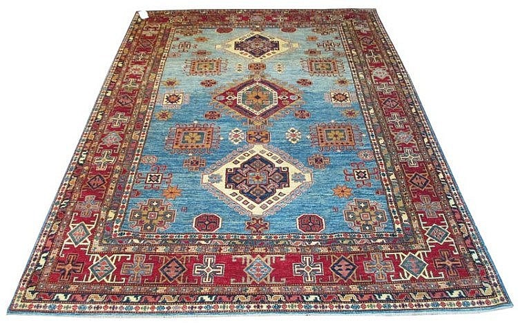VERY FINE KAZAK CARPET, 310cm x 242cm, comprising