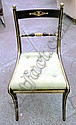 DINING CHAIRS, a set of six, Regency style,