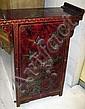 ORIENTAL CABINET, red lacquer, decorated with