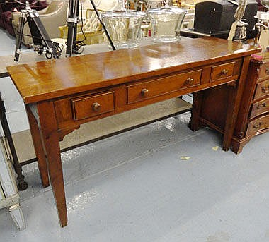 LONG CONSOLE, from Chalon, three drawers, 43cm x