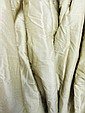CURTAINS, a pair, in bronze silk moiree, triple