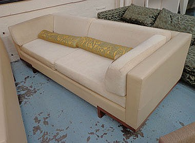 DAVID LINLEY SOFA, two seater, in neutral leather
