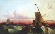 MANNER OF CLARKSON STANSFIELD, 'Fishing Boat in Heavy Seas off the Coast',
