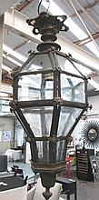 LANTERN, antique style, octagonal in a bronze effect frame, 76cm H, plus ch