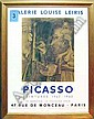 AFTER PABLO PICASSO (1881-1973), 'Painter, lithograph poster, printed by Mourlot, Paris, 63.5cm x 45.5cm, framed.