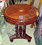 OCCASIONAL TABLE, mahogany, with a circular string
