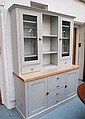 KITCHEN DRESSER, in a grey finish, having a pair