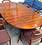 DINING TABLE, 1960's rosewood of circular form,
