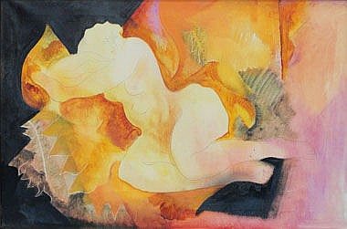 BRIAN MIDLANE (20th century), 'Nude I', oil on