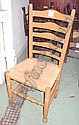 CHALON CHAIRS, set of six, ladder back, on turned supports, with