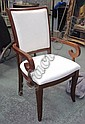 DINING CHAIRS, a set of six, (four plus two
