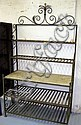 BAKER'S RACK, metal with five shelves, one in