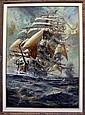 HORMAN CONRAD (20th), 'Seascape with sailing