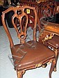 DINING CHAIRS, a set of six, en suite with