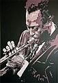 RAY SUTTON (contemporary), 'Miles Davis', acrylic
