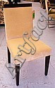 DINING CHAIRS, a set of eight, cream velvet with