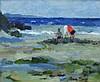 PRUE SAPP (1928-2013), 'Seascape', oil on board,
