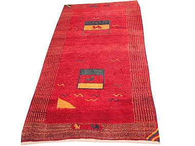 GABBEH RUNNER, 182cm x 100cm, the abrashed wine