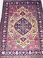 VERY FINE QUM RUG, 120cm x 84cm, Central Persia,