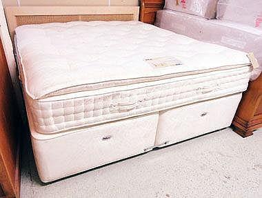 DOUBLE DIVAN BED, Relyon for Harrods, luxury