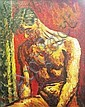 GEORGE MELHUISH (1916-1985), 'Male nude', oil on