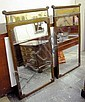 MIRRORS, a pair, Chinese style, elm frames, 126cm