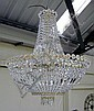 CHANDELIER, of large proportions, with cut glass
