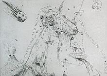 JAKE AND DINOS CHAPMAN (British, b. 1962/66), 'Explaining Christians to Dinosaurs', 2005, etching, 2