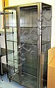 DISPLAY CABINET, industrial steel, with glazed