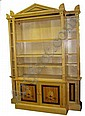 DAVID LINLEY BREAKFRONT BOOKCASE, sycamore, with