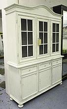 DRESSER, French style, distressed painted finish,