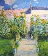 AFTER MONET, 'Child in a Garden', oil on canvas, 8