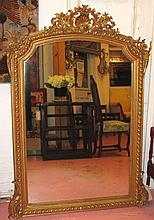 OVERMANTEL, late 19th century French gilt composit