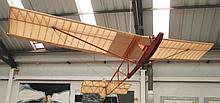 MODEL GLIDER, approximately 284cm W.