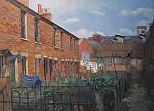CHRISTOPHER HALL, 'Brixton Rise, Newbury', oil on