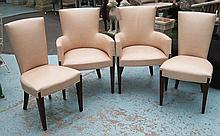 DINING CHAIRS, a set of eight including two carver