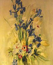 SERRANO, 'Still life with flowers', 1962, oil on c