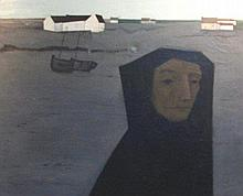 JEAN PORCHER (French, 1927-1954), 'Nantes' oil on
